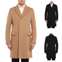 Korean style New fahion men's wool coat winter long style coat