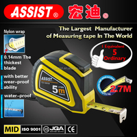 0.14mm thickness 5m function of measuring tools magnetic hook tape measure measurement