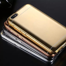 Metal Aluminum Bumper Frame Mirror Back Phone Case For Huawei Honor 4X