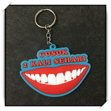 Branded soft toy keychains wholesale, 2d custom rubber keychains,nice keychain for gift