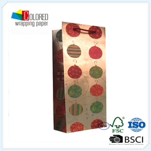 Special Paper Gold Card Paper Bags Printed Christmas Ball