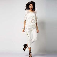 High quality OEM cutout design women clothing plain color t shirts custom t-shirts for ladies
