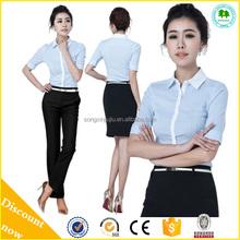 Boa Design uniforme escritório para as mulheres branco Workwear novo estilo