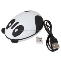 Cute Panda shape rechargeable wireless mouse optical computer mouse for business/exhibition/christmas gift