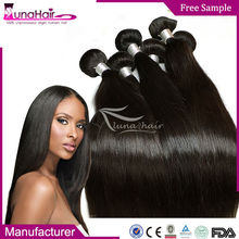Full cuticle 6a 7a grade no lice no shedding peruvian silky straight virgin hair company from China