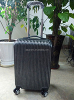 4 wheels, stripe wire drawing pc travel luggage, trolley luggage , suitcase