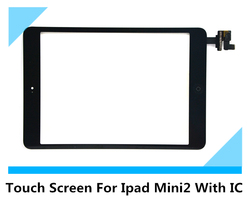 Top Quality with accessory for iPad mini II with IC flex connector Touch Digitizer Glass Screen for iPad mini II