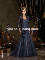 LL5608 2014 New Design Custom Made Caterina Satin Lace Mother Of The Bride Dresses With Jacket