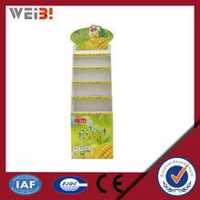 comercial de exibição adereços de papelão display de balcão