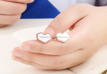 fashion stainless steel heart rose gold earrings fancy jewelry wholesale costume jewelry
