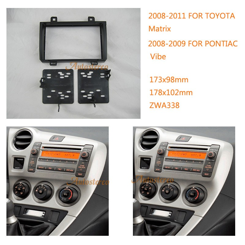 Car    Radio    fascia for TOYOTA    Matrix    20082011  PONTIAC