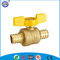 brass gas valve with timer