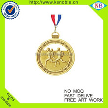 Race gold sport metal medal