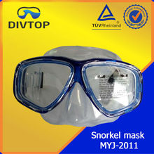 Clear snorkeling silicone female mask