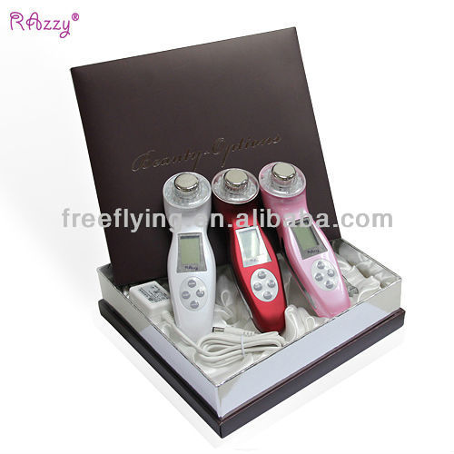 Best selling CE & ROHS approval rechargeable portable skin care machine/ ultrasonic facial massager beauty products