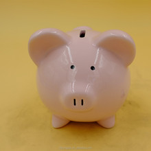 children gift small eyes pig ceramic coin bank