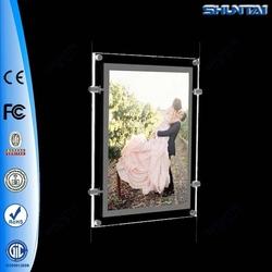 A3 Sizes Frameless Thin Lighted Hanging Led Acrylic Photo Frame