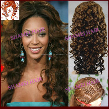 2015 New Design Silk Top Hot Selling Virgin Malaysian Curly Gluless Silk Top Wig
