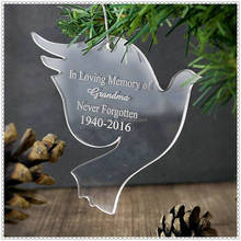 Popular Flying Pigeon Plexiglass Ornament For Christmas Gifts