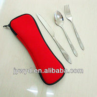 stainless steel travel cutlery set in pouch