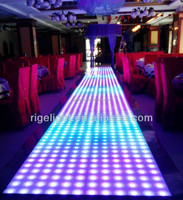 1mX1m Super Slim RGB colorful led portable dance floor for wedding