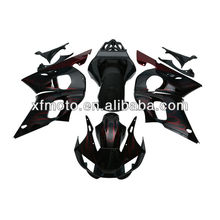 For Yamaha YZF R6 YZF-R6 98-02 Flame Black ABS Plastic Fairing Body Work Set