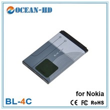 Smartphone rechargeable batteries for Nokia BL-4C aa battery 3.7v