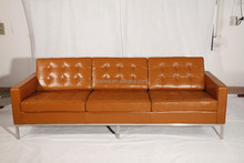 Top quality leather sofa set 3 2 1 seat florence knoll sofa for living room