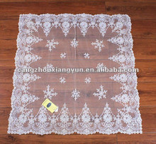 Embroidered organza beaded tablecloths