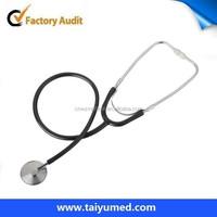 Single head stethoscope Black PVC tube single head stethoscope