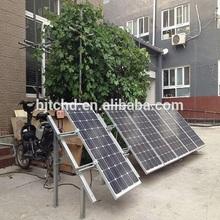 /de interior al aire libre solar de generación de electricidad del sistema para el hogar, sistema casero solar