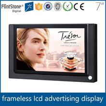 """Flintstone 7 inch small lcd mp5 video player lcd display media player 7"""" lcd poster display"""