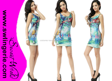 galaxy dress Autumn outfits for women elastic Vest tops Cheshire Cat dress Wholesale