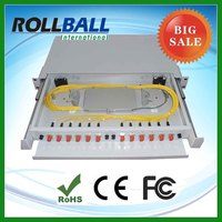 Low cost st fiber optic patch panel