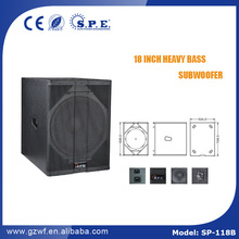 SPE AUDIO professional speaker SP-118BA 18 inch active powered subwoofer speaker