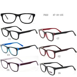 Wholesale optical frame fashion Acetate eyeglass frame with 9 models