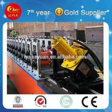 Omega profile roll forming machine C U purlin channel truss furring cold forming machine