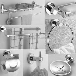 cheap price 6 pcs zinc bathroom accessory fittings/zinc bathroom accessories hardware /6 pcs zinc bathroom accessory