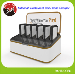 Universal Portable Restaurant Cell Phone Charger with 6pcs Charger 5000mAh Cell Phone Charging Station