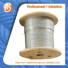 7x7 steel wire with clear nylon coated.4.5mm-6.5mm pvc