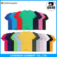 Cotton Polyeter Blank Cheap Single Jersey Men Short Sleeve T-shirt from Nanchang garment factory