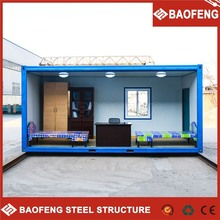 2015 Latest Useful and beautiful light steel prefab exported pack container house