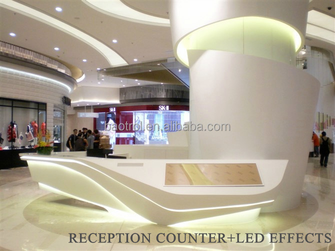 Desk Design+led Light Small Round Shape Reception Desk - Buy Small ...