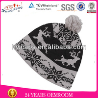 Custom Animal Jacquard Knitted Beanie Hat/Sheep Wholesale Hand Knitted Children Cap