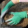 SRSAFETY 13 gauge green nylon liner coated nitrile safety working gloves/grey nitrile coated work gloves