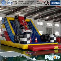 Race car inflatable slide,adult inflatable slide,commercial inflatable dry slide