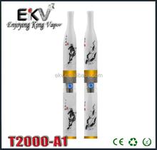 2014 best public ecig unique colored cigarette electronique T2000 2ml large vapor