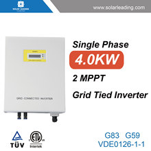 New design 4kw goodwe inverter connect to small solar panel for solar home power system