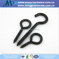 Eye terminal high quality black zinc plated special eye screw for wood