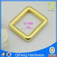 Q-1050 desirable bag buckle shiny really gold square ring